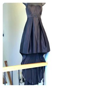 DAVIDS BRIDAL sz 6 black hi low gown dress prom
